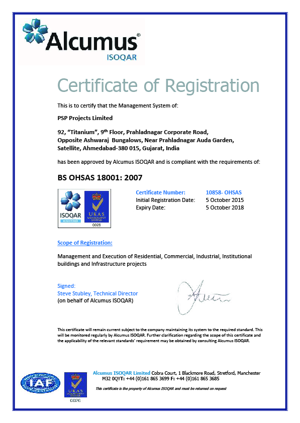 Certificates | PSP Projects